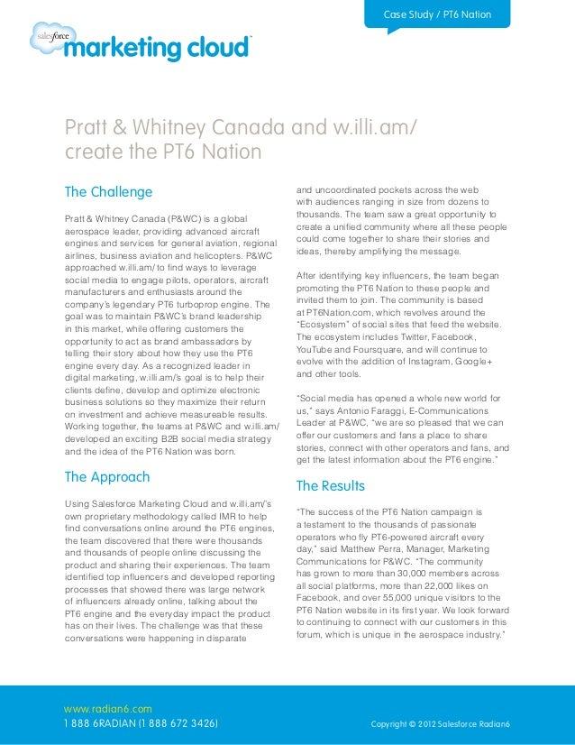 Case Study / PT6 NationPratt & Whitney Canada and w.illi.am/create the PT6 NationThe Challenge                            ...