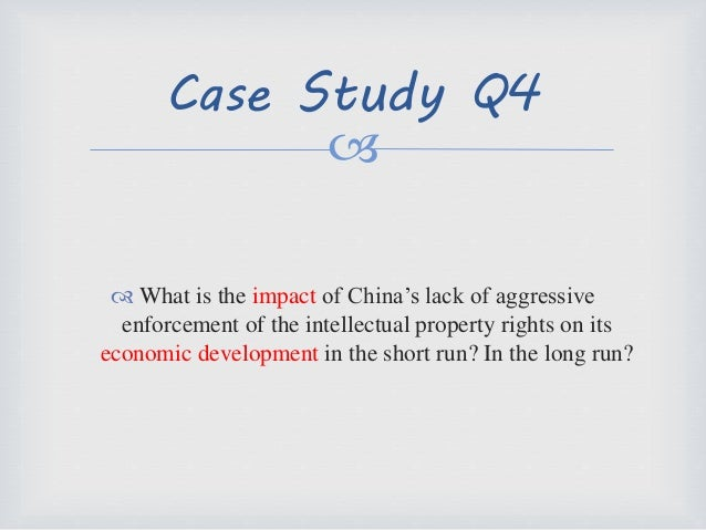 Short Case Study On Intellectual Property Rights