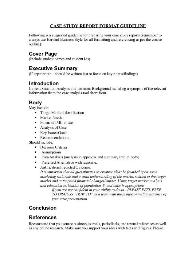 Apa style case study