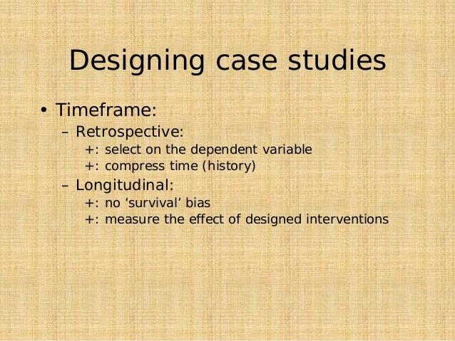Cross-sectional vs. longitudinal studies