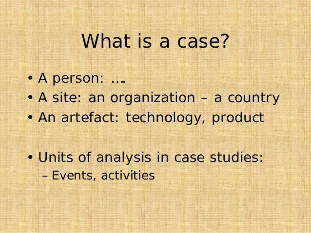 Artefact explanation