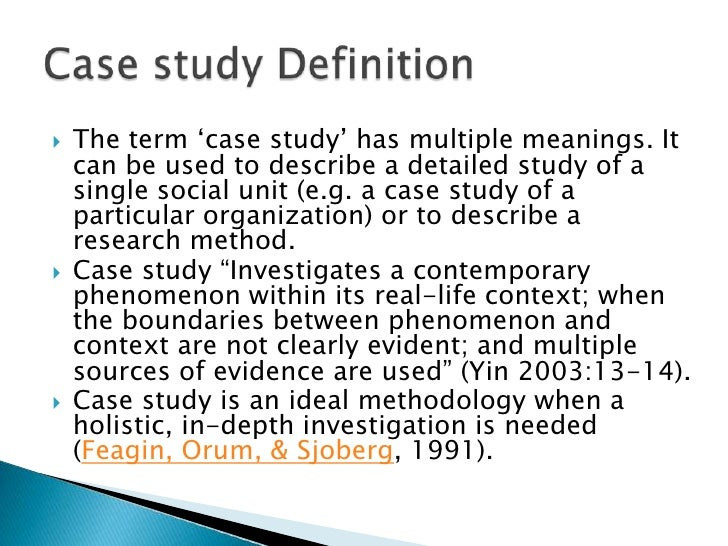 The Case Study as a Research Method  Upcoming Events