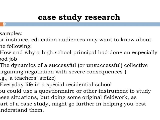 case study methodology in educational research