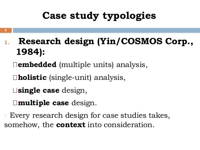 methodology single case study research A case study generally involves looking at a single case (which already  case  study is a useful methodology for focusing on relationships  multiple case study  research needs to use cases that are similar in some ways.