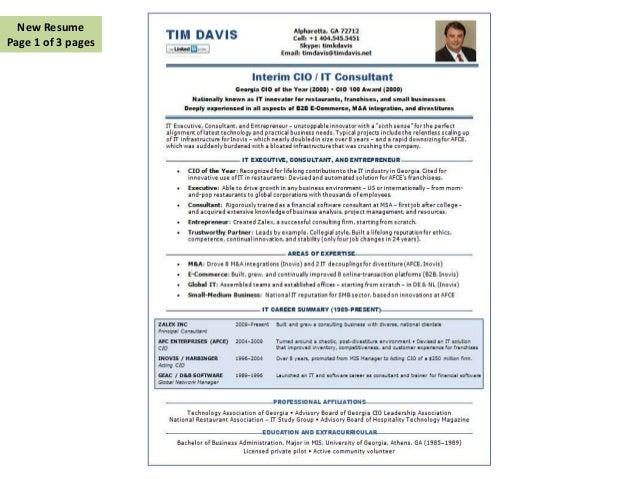 Case Study - CV / Resume Makeover in CIO Magazine (Sept 2013)