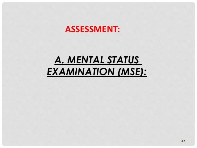 mental state examination mse case study Evaluating the montreal cognitive assessment (moca) and the mini mental state exam (mmse) for cognitive impairment post stroke: a validation study against the cognistat.