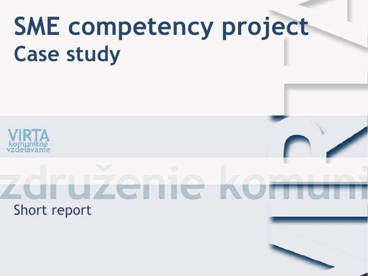 SME competency project Case study Short report