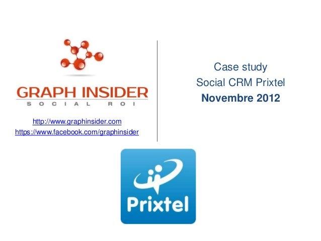 Case study                                        Social CRM Prixtel                                         Novembre 2012...