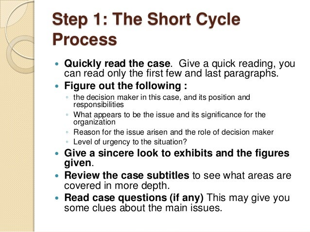 how to solve case study steps