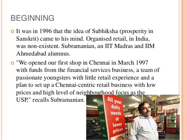 subhiksha pharma case study The largest retail value chain of india- subhiksha, failed this case analyses  some of the reasons for the same largest retail value chain in.