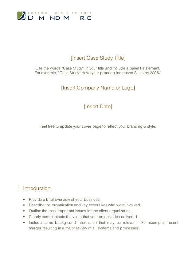 case study in essay format  case study in essay format