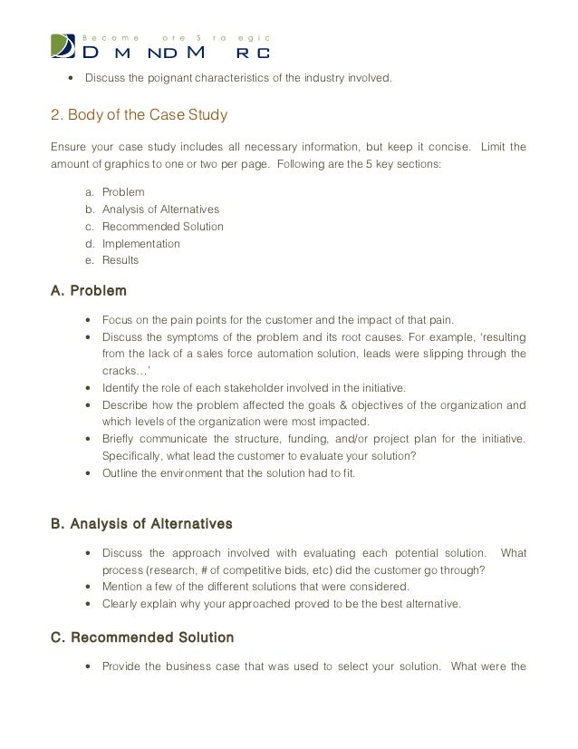 how to write a case study outline
