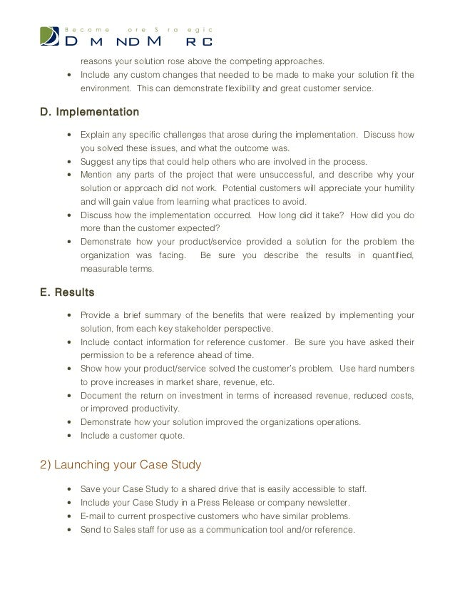 Business case study template selol ink case study template accmission Image collections