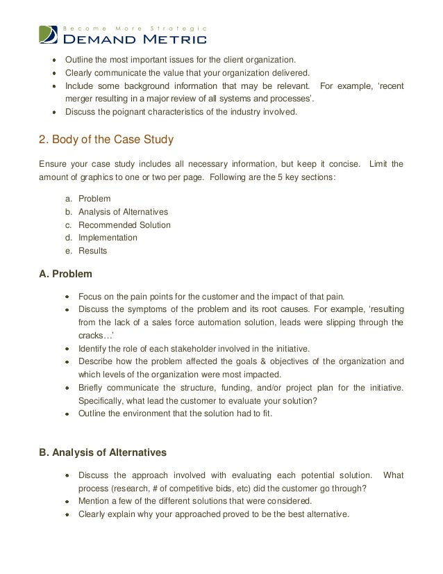 case analysis outline template
