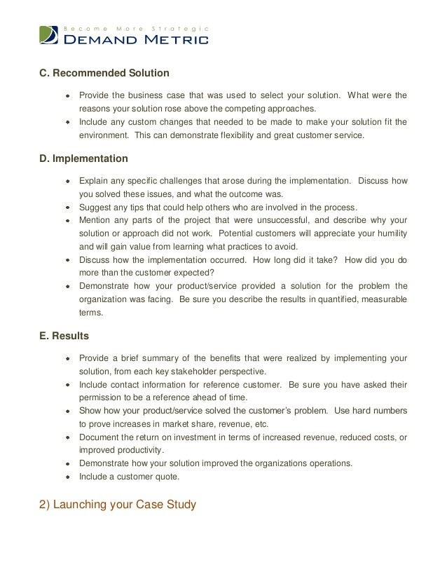 Case study template 3 pronofoot35fo Gallery