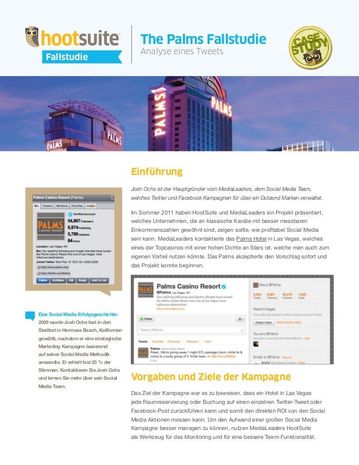 HootSuite Case Study - The Palms Fallstudie (Deutsch/German)