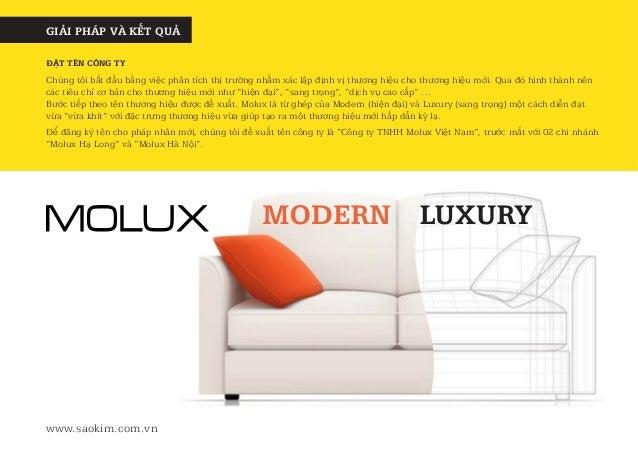 Case Study - Dự án thiết kế thương hiệu nội thất cao cấp Molux Slide 3
