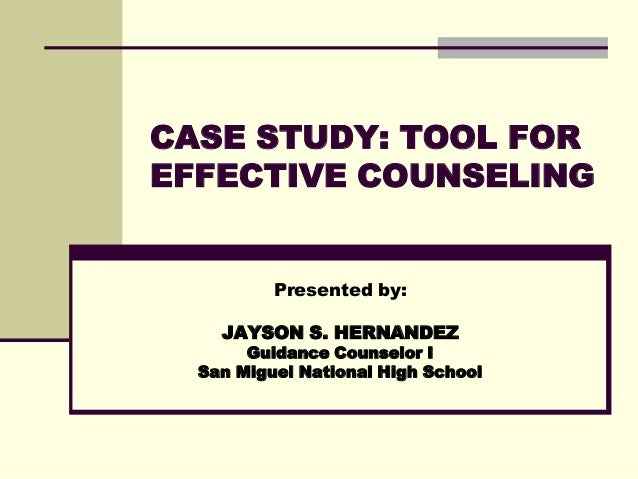 counseling event investigation report