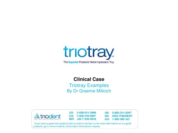 Clinical Case<br />Triotray Examples<br />By Dr Graeme Milicich<br />