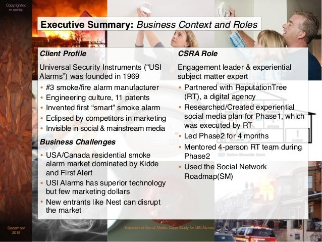 Experiential Social Media Case Study for USI Alarms Slide 2