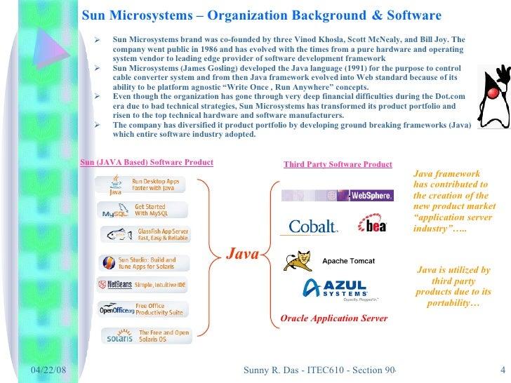 sun microsystems inc condition study