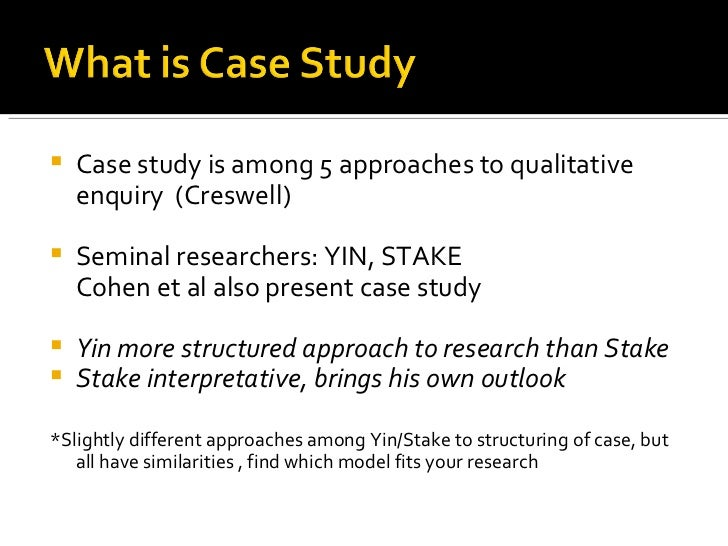 Case Study Research A Qualitative Approach to Inquiry