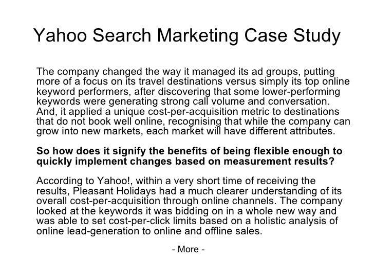 yahoo inc marketing case study analysis