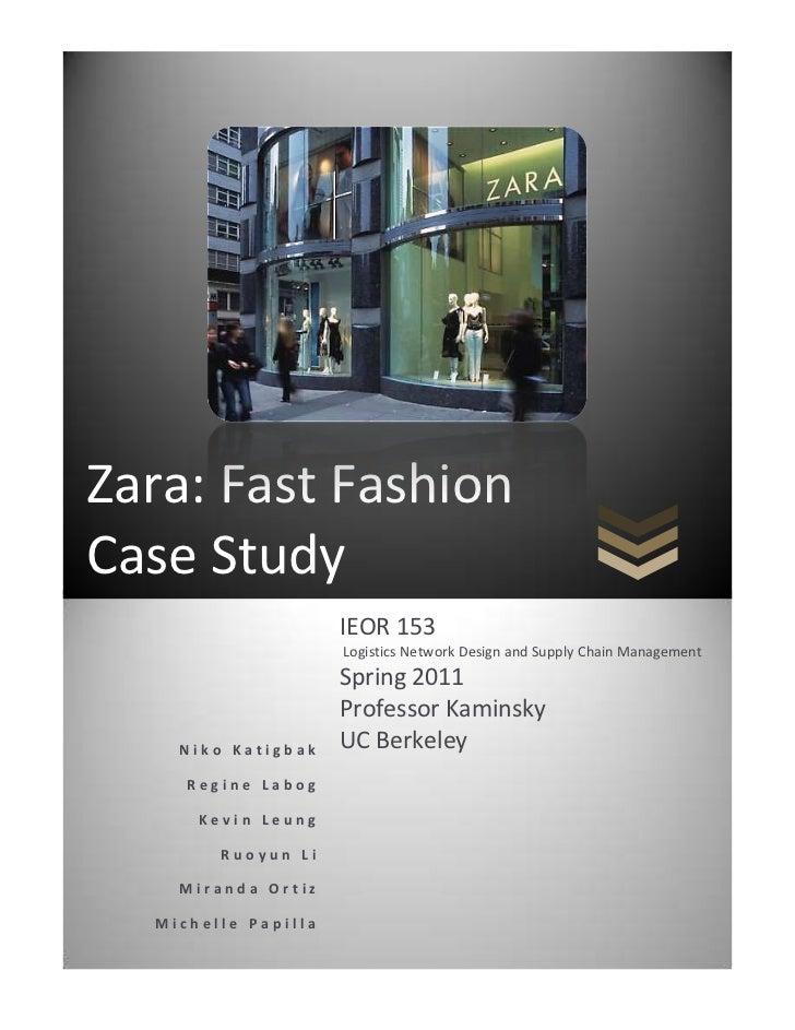 Zara fast fashion case analysis 6