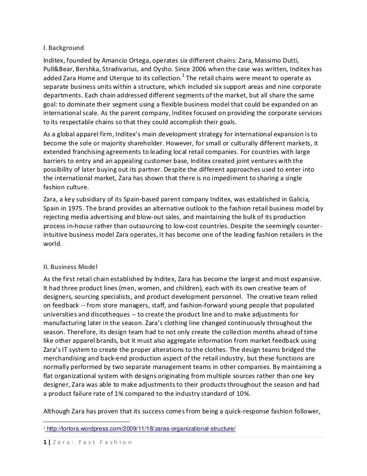 Zara fast fashion case analysis 85