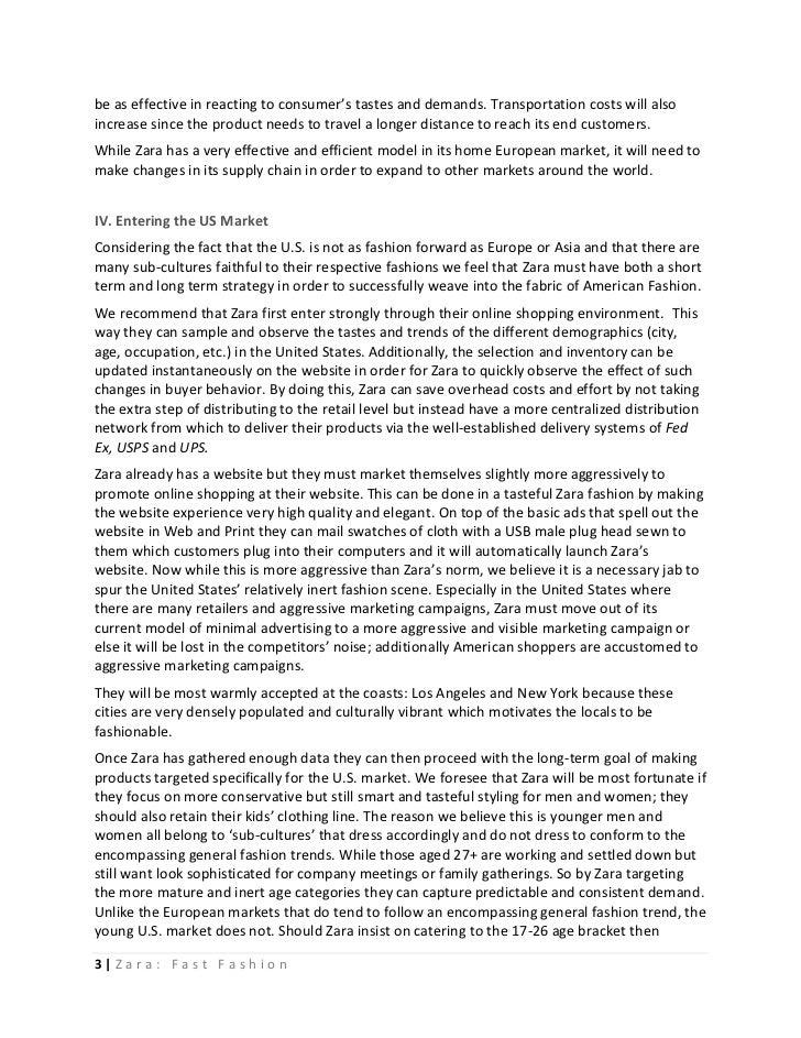 Zara fast fashion case analysis 38