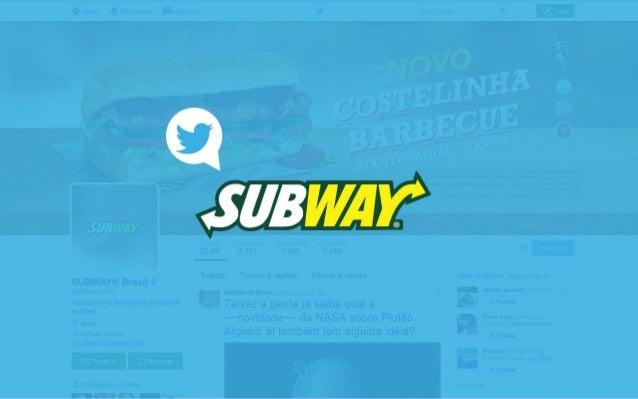 No Facebook, a fan page de SUBWAY® é um sucesso. Alto engajamento, público cativo e grande interação fazem dela a segunda ...