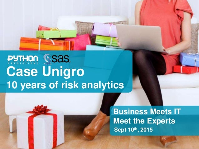 Credit scoring and fraud detection in retail The story of 10 years of risk analytics at Unigro Geert Verstraeten Python Pr...