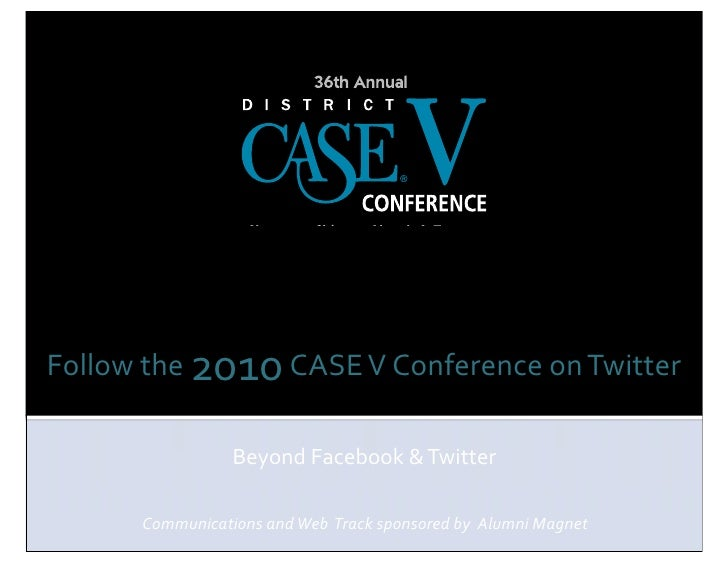 CASEV 2010: Stoner/Sullivan Presentation