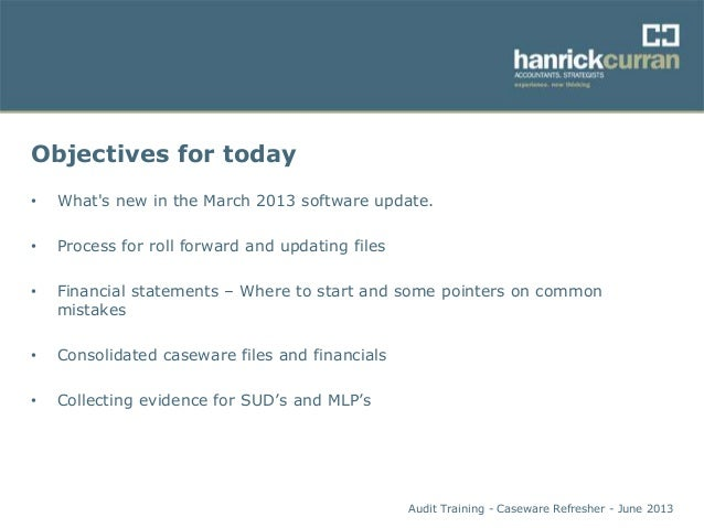 caseware refresher slides rh slideshare net CaseWare Working Papers CaseWare International