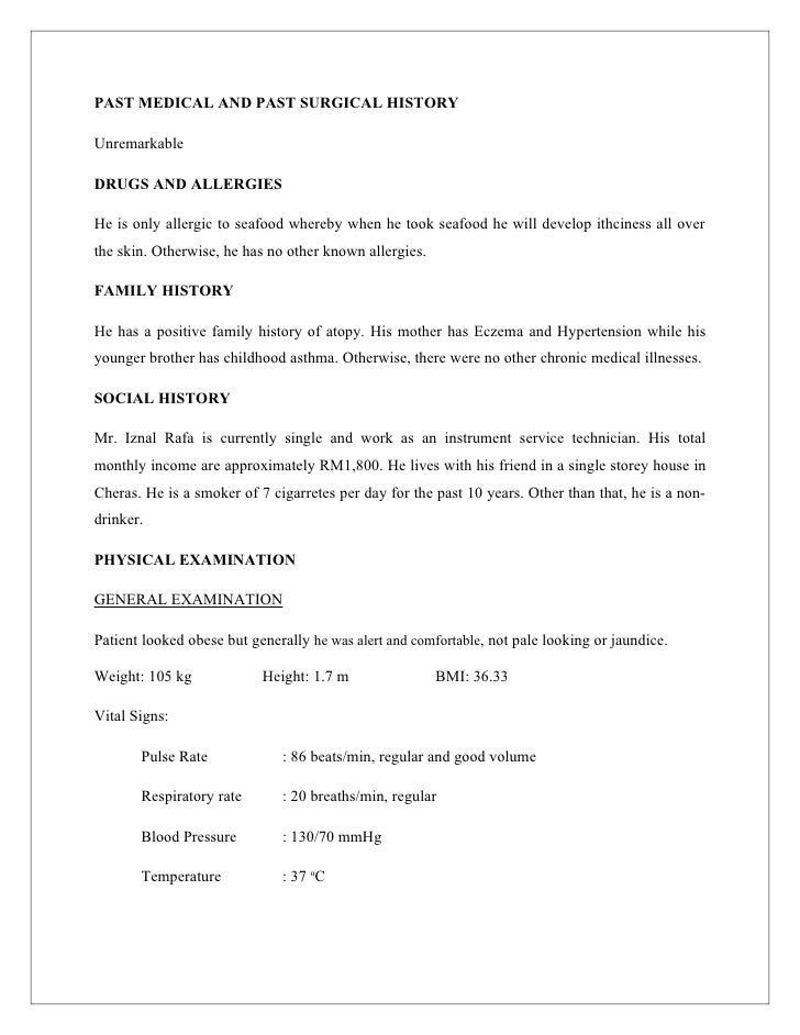 physical exam template for medical students