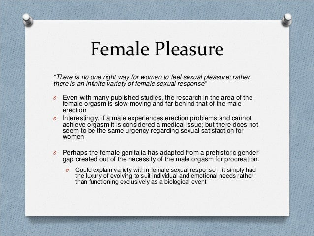 No sexual pleasure