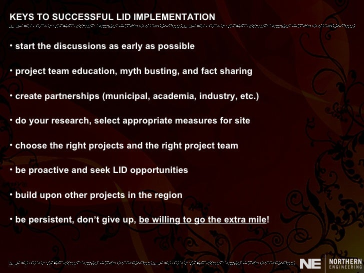 The keys to a successful implementation