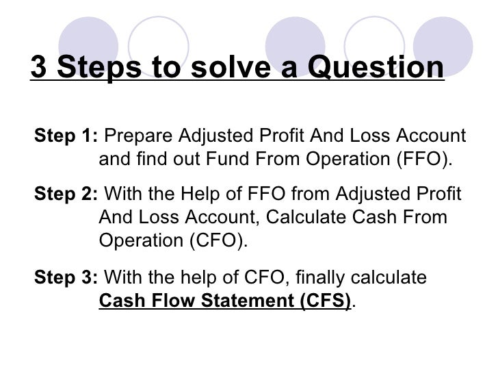 identify the differences between a cash flow statement and a profit and loss account essay Profit & loss statements are all organized the same way, regardless of  to see a  company's cash flow, you will need to examine its statement of cash flows.