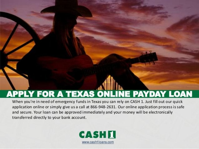 When you're in need of emergency funds in Texas you can rely on CASH 1. Just fill out our quick application online or simp...