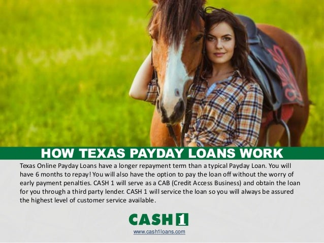 Getting A Texas Payday Loan by CASH 1 Loans Slide 2