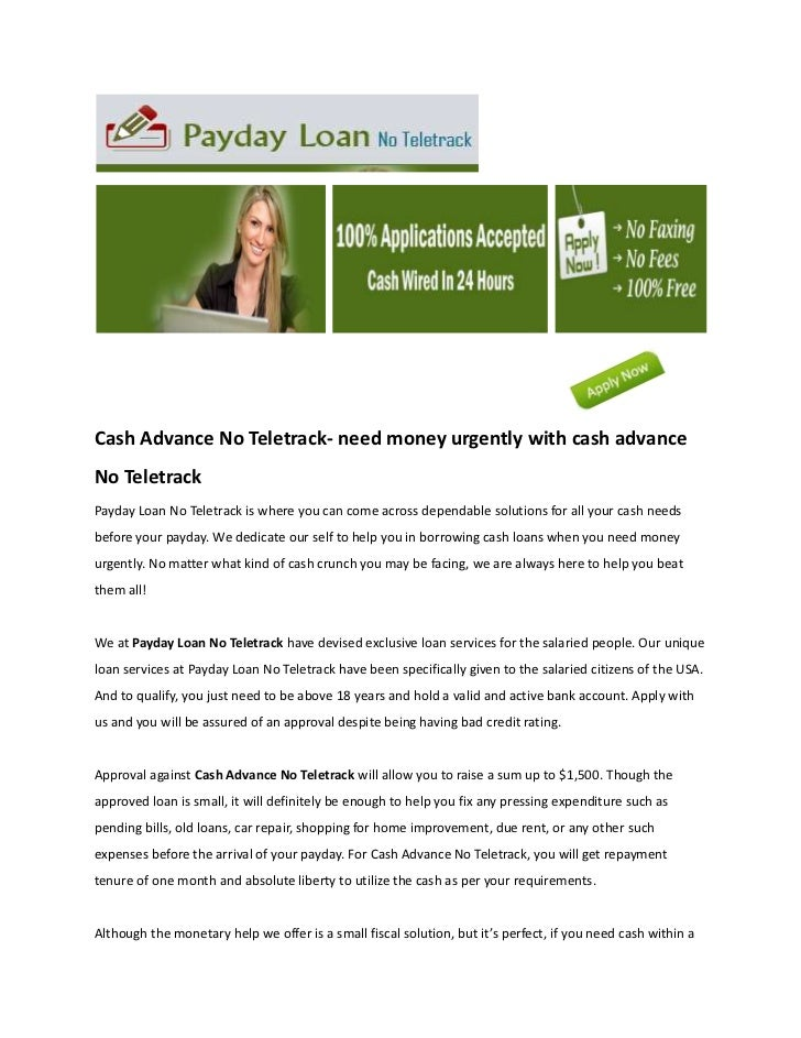 1 hour cash advance no teletrack - 3