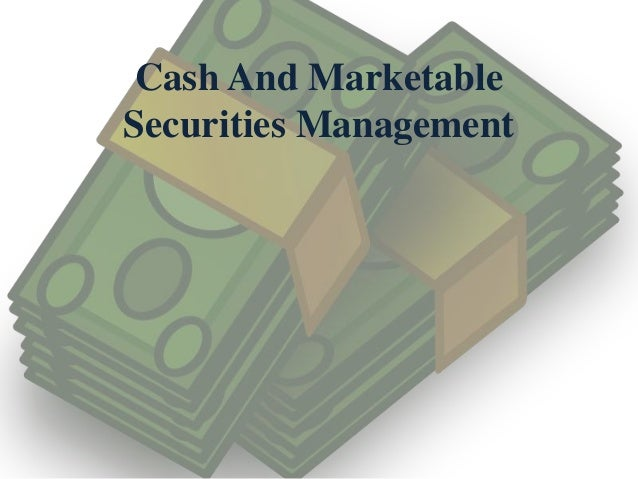 marketable securities cash flow