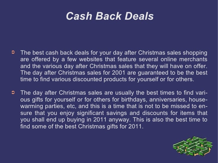 Best Cash Back Deals For Your Day After Christmas Sales Shopping