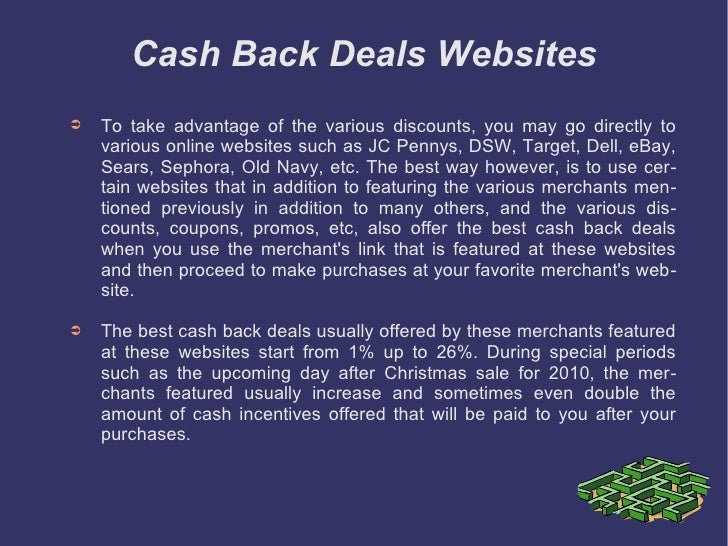 4 cash back deals - Best Deals After Christmas