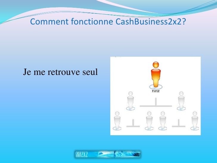 Comment fonctionne CashBusiness2x2?     Je me retrouve seul
