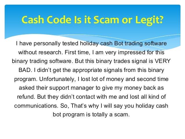 Cash code binary options
