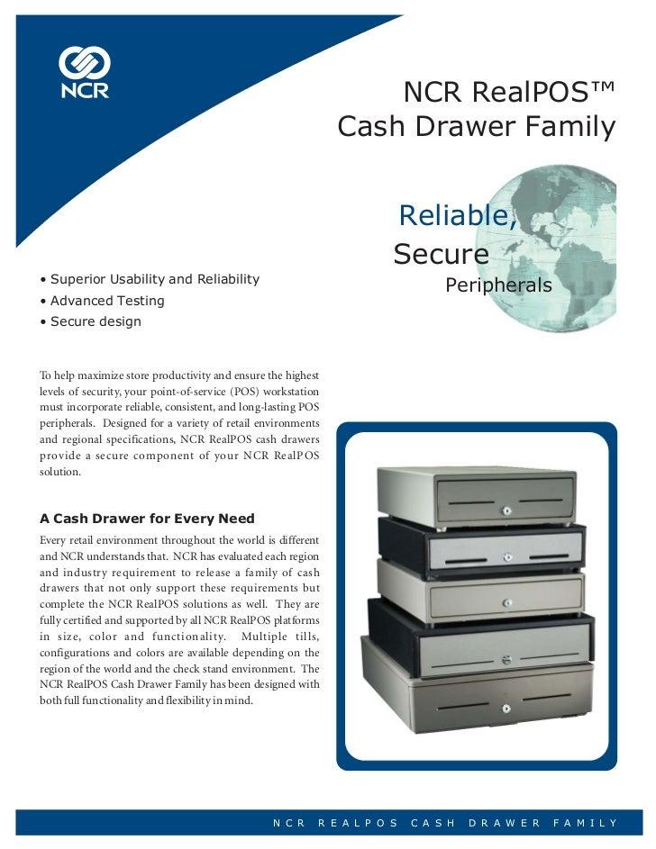NCR RealPOS™                                                              Cash Drawer Family                              ...