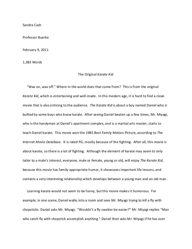 movie evaluation essay example