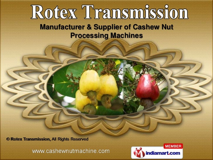 Manufacturer & Supplier of Cashew Nut        Processing Machines