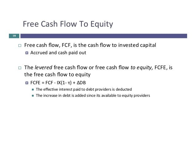 Cash flow and cost of capital pdf : Free Cash Flow To Equity Nopat